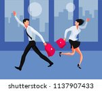 meeting in the office.... | Shutterstock .eps vector #1137907433