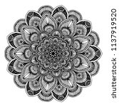 mandalas for coloring  book.... | Shutterstock .eps vector #1137919520