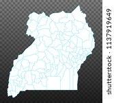 map of uganda. vector...   Shutterstock .eps vector #1137919649