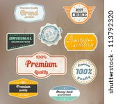 set of retro badge and labels.... | Shutterstock .eps vector #113792320