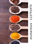 background with spices  ... | Shutterstock . vector #113792470