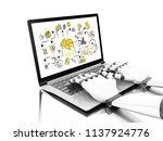 3d illustration. robotic hands... | Shutterstock . vector #1137924776