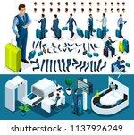 isometric set 3 create your...   Shutterstock .eps vector #1137926249