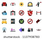 colored vector icon set  ... | Shutterstock .eps vector #1137938783