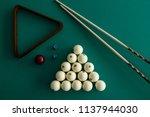 Russian billiard balls  cue ...