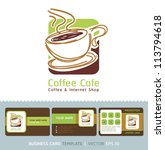 coffee cafe icon logo and... | Shutterstock .eps vector #113794618