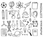 school education sketch drawing ... | Shutterstock .eps vector #1137953546
