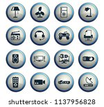 home appliances vector icons... | Shutterstock .eps vector #1137956828