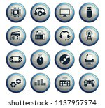 hi tech vector icons for web... | Shutterstock .eps vector #1137957974