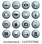 hi tech vector icons for web... | Shutterstock .eps vector #1137957980