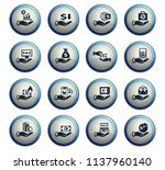 hand and money vector icons for ... | Shutterstock .eps vector #1137960140