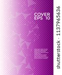 vector cover page layout.... | Shutterstock .eps vector #1137965636