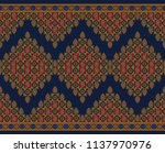seamless paisley traditional... | Shutterstock . vector #1137970976