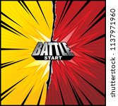 comic background for duel or...   Shutterstock .eps vector #1137971960