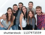 close up. cheerful group of... | Shutterstock . vector #1137973559
