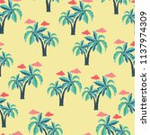 tropical seamless pattern with... | Shutterstock .eps vector #1137974309