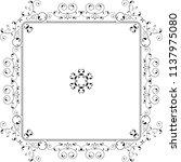 frame border decorative design... | Shutterstock .eps vector #1137975080