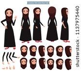 arab women character set of... | Shutterstock .eps vector #1137975440