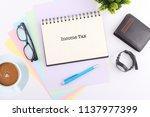 business concept. top view... | Shutterstock . vector #1137977399