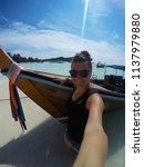 travel summer holiday concept... | Shutterstock . vector #1137979880
