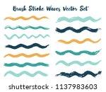minimalist brush stroke waves... | Shutterstock .eps vector #1137983603