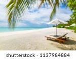 beautiful blurry beach. summer... | Shutterstock . vector #1137984884