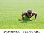 african american male athlete... | Shutterstock . vector #1137987353