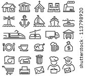 set of vector icons from the... | Shutterstock .eps vector #113798920