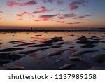 evening dusk sunset beach... | Shutterstock . vector #1137989258
