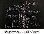 cloud computing concept words... | Shutterstock . vector #113799094