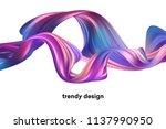 modern colorful flow poster.... | Shutterstock .eps vector #1137990950