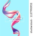 modern colorful flow poster.... | Shutterstock .eps vector #1137990953