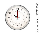 realistic clock face showing 10 ... | Shutterstock .eps vector #1137990986