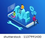 website under construction page.... | Shutterstock .eps vector #1137991430