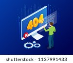 website under construction page.... | Shutterstock .eps vector #1137991433