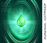 eco friendly oil drop on the... | Shutterstock .eps vector #1137993329