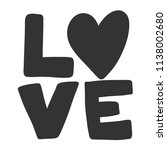 love. sticker for social media... | Shutterstock .eps vector #1138002680