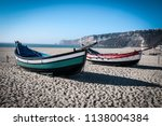 boats on the beach | Shutterstock . vector #1138004384