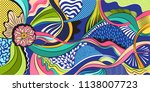 bright banner with different...   Shutterstock .eps vector #1138007723