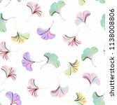 vector ditsy seamless pattern... | Shutterstock .eps vector #1138008806