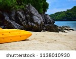beautiful tropical beach with... | Shutterstock . vector #1138010930