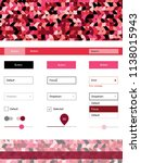 light red vector web ui kit...