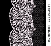 seamless black and white lace... | Shutterstock .eps vector #1138018859