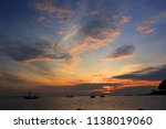a fisherman is coming home... | Shutterstock . vector #1138019060