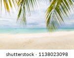 beach blur and defocus... | Shutterstock . vector #1138023098