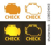 check engine warning sign on... | Shutterstock .eps vector #1138024043