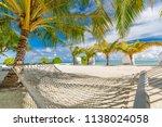 serenity tropical beach ... | Shutterstock . vector #1138024058