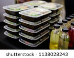 catering lunch box | Shutterstock . vector #1138028243