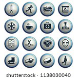 ice rink vector icons for web... | Shutterstock .eps vector #1138030040