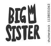 big sister. sticker for social... | Shutterstock .eps vector #1138031063